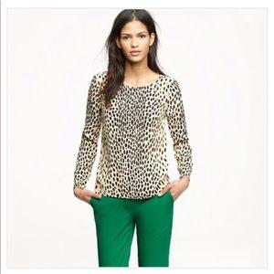 JCrew animal print blouse.